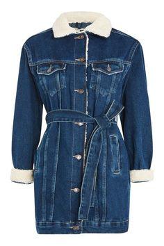 Moto Denim coat / 130.00