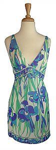 Vintage 1960s Emilio Pucci Purple & Blue Iris Mini Slip Dress