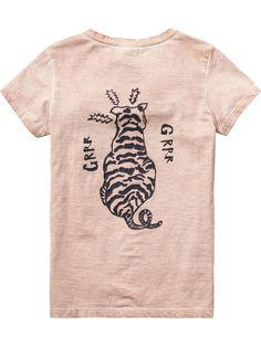 T-shirt avec imprimé ethnique | T-shirt m/c | Habillement Fille Scotch & Soda