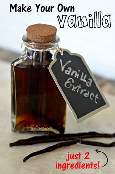Homemade Vanilla Extract (Just 2 Ingredients) by Hip2Save   Not Your Grandma's Coupon Site