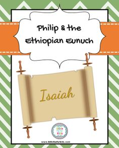 Philip & the Ethiopian Eunuch lesson, printables & more #Biblefun