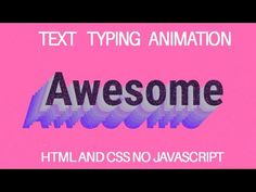 Amazing Text Typing Web Animation Effect Using Html Css ll Text Typing A. Css Style, Text Editor, Text Types, Html Css, Blog Sites, Texts, How To Look Better, Awesome, Amazing