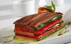 Tortino zucchine peperoni  e acciughe
