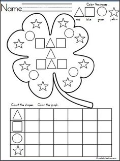 Patrick's Day Printable Worksheets for Kids - Preschool and Kindergarten - St. Patrick's Day Printable Worksheets for Kids – Preschool and KindergartenPreschool Crafts Worksheets For Kids, Printable Worksheets, Math Worksheets, St Patricks Day Crafts For Kids, March Themes, Spring School, Kindergarten Books, Shape Chart, Mini Books