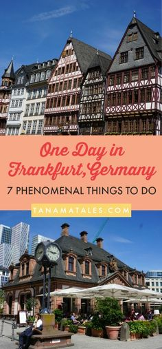 One day in Frankfurt Am Main, Germany � 7 Phenomenal Things to do, see and eat � If you happen to be traveling around Frankfurt or have a layover in the city, these 7 ideas will help you to make the most of your time in the city.  You will love the cultural, gastronomic and shopping options in the city.