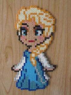 Elza Frozen hama beads by CrazyHamaGuyBeads
