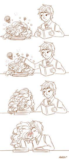 kihori:  I forgot I had this, it's like more than a month old. A little comic where Hiccup tries to tutor Merida.