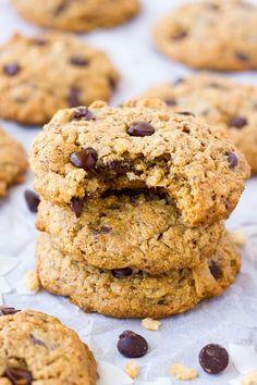 oatmeal almond flour cowboy cookies {gluten-free}