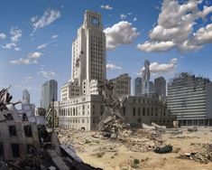 Post Apocalypse Downtown Los Angeles by on DeviantArt Post Apocalypse, Apocalypse World, Apocalypse Survival, Apocalypse Landscape, Post Apocalyptic City, Ruined City, Cyberpunk, Downtown Los Angeles, End Of The World