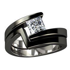 millenium titanium wedding ring