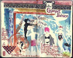 de vuelta con el cuaderno: Cuadernistas reunidos para dibujar en Zaragoza 02