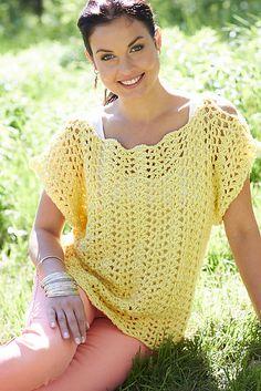 Ravelry: Crochet Scalloped Top pattern by Lorna Miser