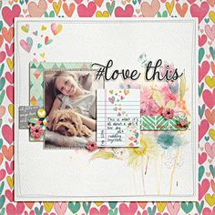 Love Story kit by Michelle Coleman (Little Dreamer Designs February 2015 kit); font: pea diana