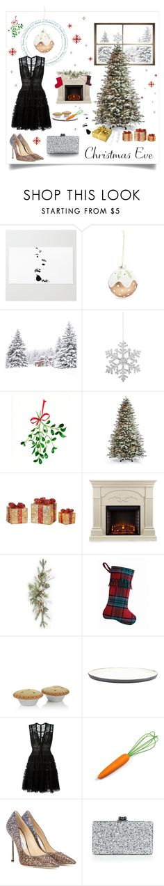 """""""Night before Christmas"""" by magnolialily-prints ❤ liked on Polyvore featuring Shishi, WALL, Frontgate, Southern Enterprises, Pendleton, Harrods, Broste Copenhagen, Elie Saab, Jimmy Choo and Edie Parker"""