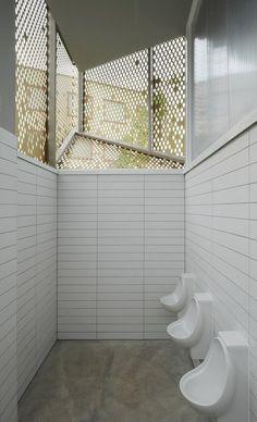 Wembley WC Pavilion Public Toilet By Gort Scott Toilet And Bathroom Design, Restroom Design, Toilet Design, Wc Design, Outdoor Toilet, Airport Design, Tropical Bathroom, Public Bathrooms, New Toilet