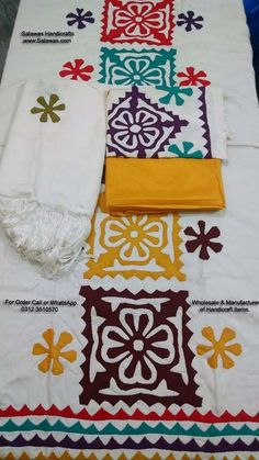 Applique Work Dresses Of Hand Embroidery Sindhi Aplic Work