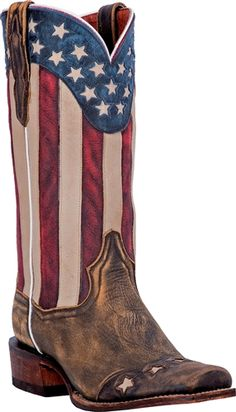 I LOVE THIS BOOT!!!! SO CUTE!!! This boot is American flag crackle goat leather.