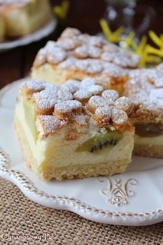 Wiosenny sernik z owocami Polish Food, Polish Recipes, Breakfast Dessert, Tea Time, Frosting, Sweet Tooth, Cheesecake, Dishes, Cream