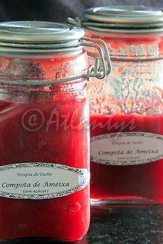 Compota de ameixa sem açúcar (Sugar free plum compote)