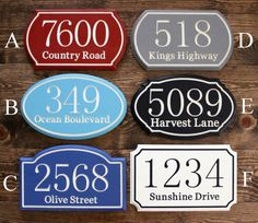 Hey, I found this really awesome Etsy listing at http://www.etsy.com/listing/125759175/engraved-house-number-sign