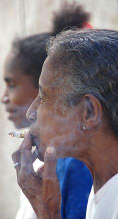 she is cool grand ma..stop smoking grand ma..