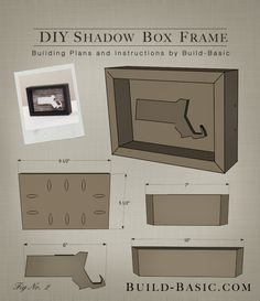 Build a DIY Shadow Box Frame - Building Plans by @BuildBasic www.build-basic.com