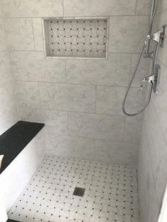 Advice, methods, and resource with regard to getting the best result and ensuring the optimum usage of Bathroom Renos Bathroom Niche, Bathroom Baskets, Master Bathroom Shower, Upstairs Bathrooms, Bathroom Renos, Bathroom Flooring, Bathroom Renovations, Bathroom Interior, Small Bathroom