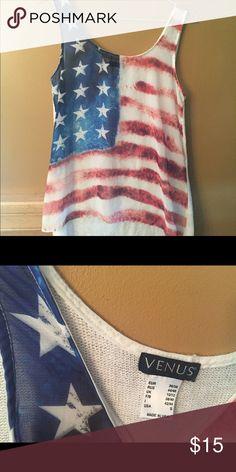 Barely worn Venus American flag tank top. Beautiful, patriotic tank top in great condition. Venus Tops Tank Tops