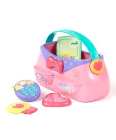 Take a look at this Pretty In Pink Put & Take Purse Toy Set on zulily today!