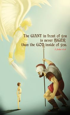 If you have a deep relationship with God, there's no giant can stand before you because you know within yourself that God inside of you is the Almighty above all. Prayer Quotes, Bible Verses Quotes, Jesus Quotes, Bible Scriptures, Spiritual Quotes, Faith Quotes, Deep Quotes, Christian Life, Christian Quotes