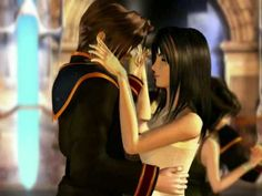 Squall dancing with Rinoa. The most beautiful couple of all of Final Fantasy VIII