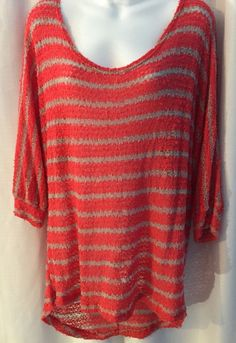 Shirt Orange and Tan Womens Stretchy Shirt Size 3X Comfy and Casual Scoop Neck | eBay