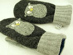 Owl mittens.