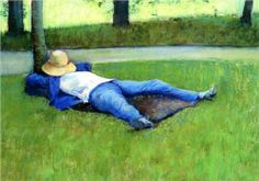 The Nap - Gustave Caillebotte, 1877