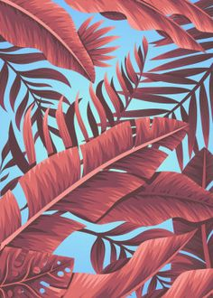Code H poster print collections Tropical Posters, Leaf Drawing, Moon Face, Vintage Hawaiian, Top Drawer, Colour Combinations, Canvas Paintings, Tropical Leaves, Leaf Prints