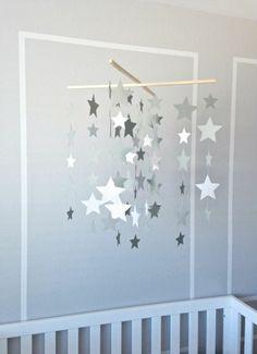 Mobile selber basteln   Sterne aus Bastelpapier