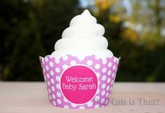 Custom Baby Shower Cupcake Wrappers by howcuteisthatparty for $12.00
