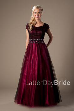 Red modest dress