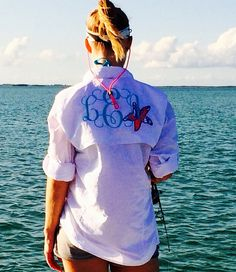 Monogrammed Fishing Shirt With Lilly Pulitzer by TantrumEmbroidery