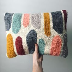 Crochet needle pillow lovely handmade punch needle pillow roseandtwill on etsy -. Crochet needle pillow lovely handmade punch needle pillow roseandtwill on etsy -… Crochet needle Handmade Pillows, Handmade Rugs, Decorative Pillows, Etsy Handmade, Textiles, Pillow Embroidery, Punch Needle Patterns, Crochet Needles, Creation Couture