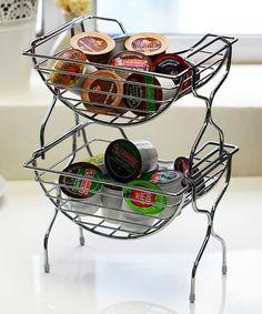 Chrome Stackable 24-Cup Coffee Pod Basket Holder - Set of Two by Vanderbilt Home #zulily #zulilyfinds