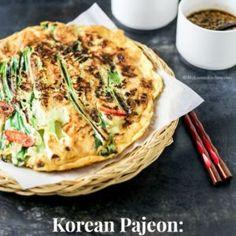 Korean Seafood and Green Onion Pancakes (Haemul Pajeon) - My Korean Kitchen Kitchen Recipes, Cooking Recipes, Pancake Recipes, Vegetarian Recipes, Korean Pancake, Korean Seafood Pancake, Korean Kitchen, Asian Recipes, Cooking