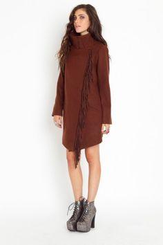 BB Dakota Oxton Fringe Coat $118.00