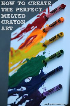 Melted Crayon Art! So much FUN to create! Some great ideas for projects too!