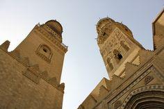 Old Cairo Minerets of Madrassa of Sultan Burquq