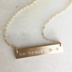 be brave // personalized jewelry // Nellene Tree
