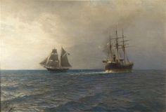 Лагорио Л.Ф. В море (Калужский художественный музей)