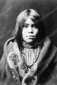 Beautiful Apache Native Indian Girl 4x6 Reprint Of Old Photo
