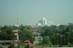 skyline of Phitsanulok from Grand Riverside Hotel