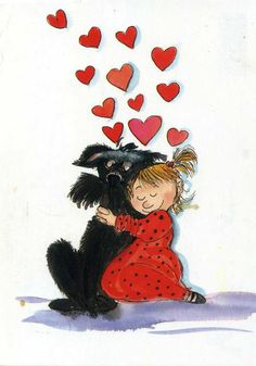 "Visit our site for even more relevant information on ""funny puppies"". It is an exceptional location for more information. My Funny Valentine, Valentines, Heart Art, Whimsical Art, Illustrations, Cute Illustration, Happy Dogs, Animal Paintings, Dog Art"
